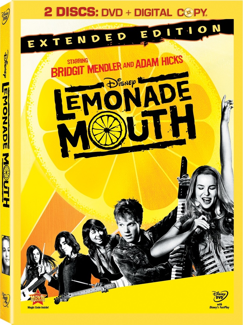 Lemonade Mouth extended edition now available on DVD & Giveaway