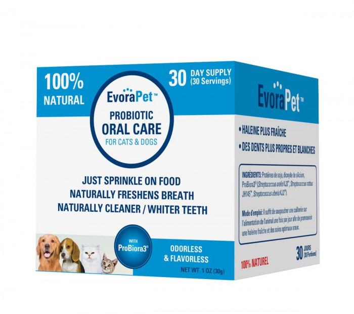 EvoraPet oral probiotics to naturally freshen breath and whiten teeth #Giveaway