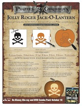 Carve your Pumpkin Pirates of the Caribbean Style! #Halloween #Craft and #free activity sheets