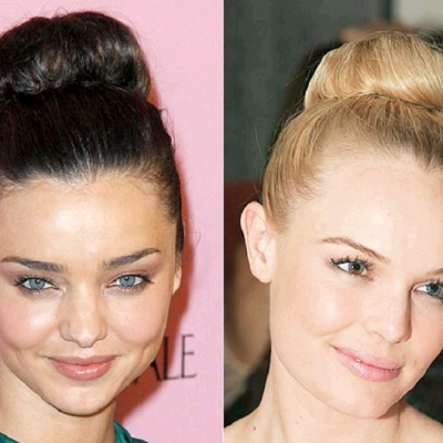 The High Bun #hairstyle is back and in full #celebrity force + tips on how to get your bun on!
