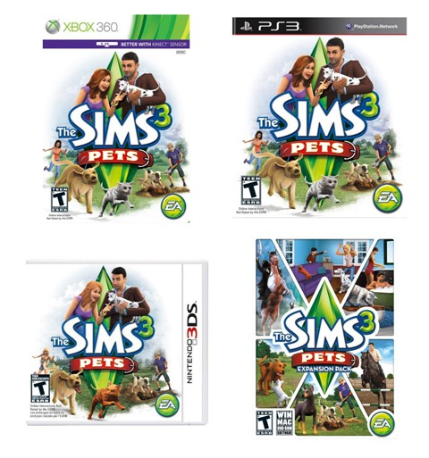 The Sims 3 Pets available now on Xbox 360, PS3, 3DS and PC/Mac with Prize Package Giveaway