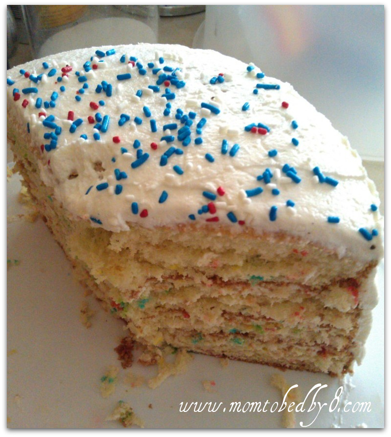 Confetti Cake with Buttercream Icing Recipe