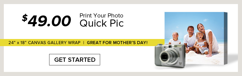 $49 Photo Canvas Print Sale at Gallery Direct!