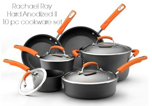 Rachael Ray Hard Anodized II 10 piece Set