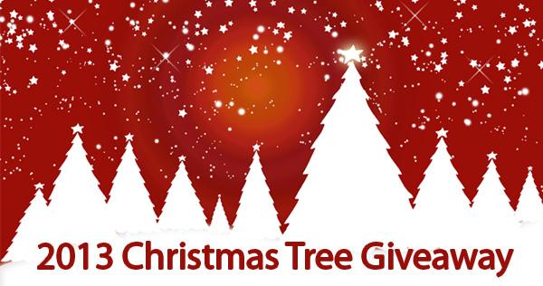 2013 Christmas Tree Giveaway