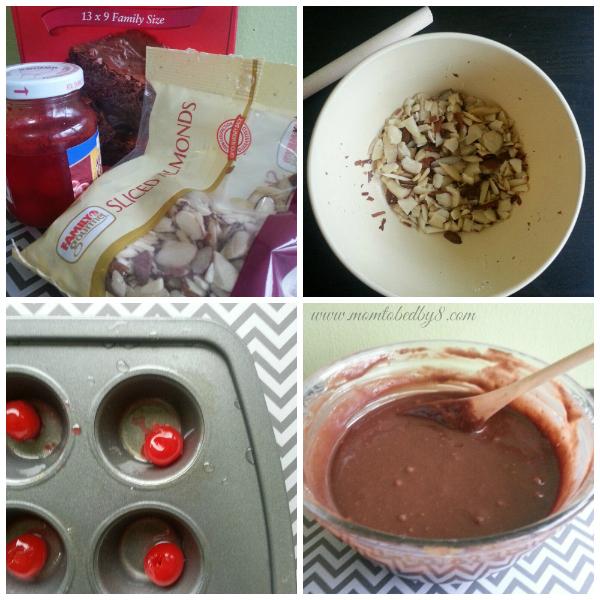 Cherry Almond Brownie Prep