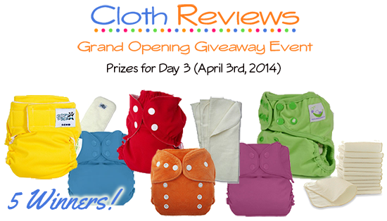 BumGenius, AppleCheeks, Thirsties and SoftBums Echo Cloth Diapers Giveaway #24Flash
