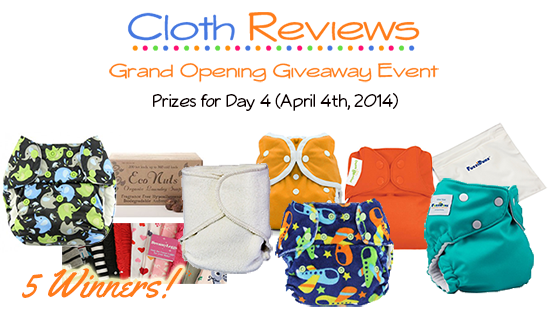 BumGenius Elemental, FuzziBunz, Blueberry and Kissa's Contour Cloth Diapers Giveaway #24Flash