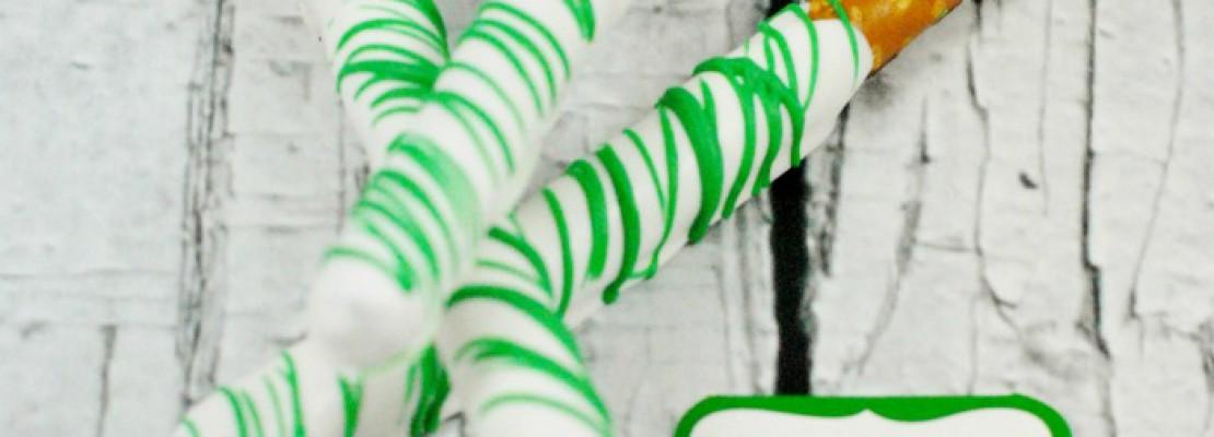 St. Patrick's Day Candy Coated Pretzel Rods
