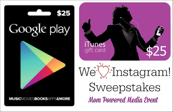 $25 Google Play or iTunes Gift Card Sweepstakes