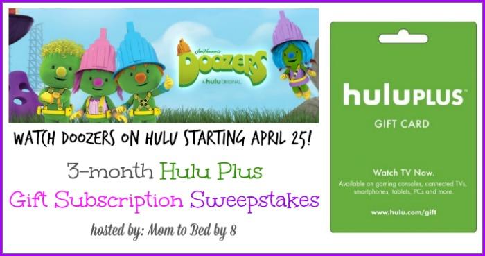 Doozers Hulu Giveaway