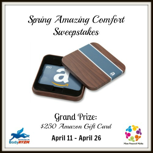 Spring Amazing Comfort: $250 Amazon Gift Card Giveaway