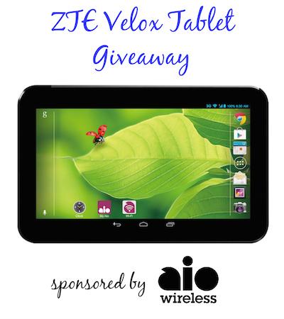 ZTE Velox Tablet Giveaway