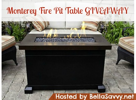 Monterey Propane Fire Pit Table Giveaway