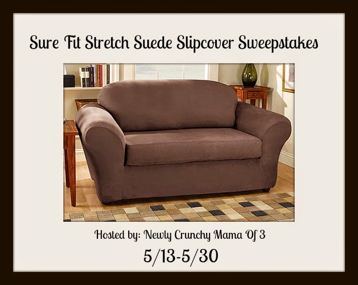 Sure Fit Stretch Suede Sofa Slipcover Giveaway Motherhood Defined