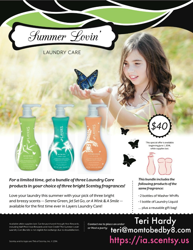 Scentsy Layers Summer Lovin' Laundry Care Kit Giveaway