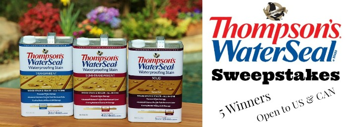 Thompson Waterseal Deck Care Kits Sweepstakes *5 winners*