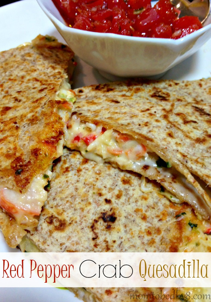 Red Pepper Crab Quesadilla