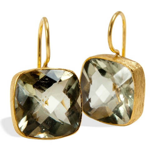 Green Amethyst Gold-plated Sterling Silver Earrings Giveaway