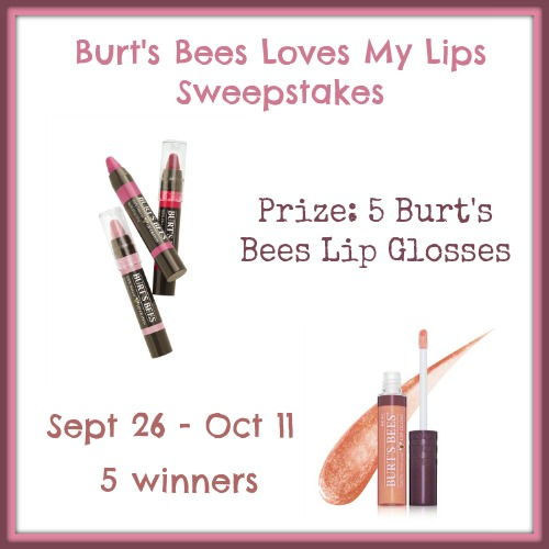Burt's Bees Loves My Lips Giveaway