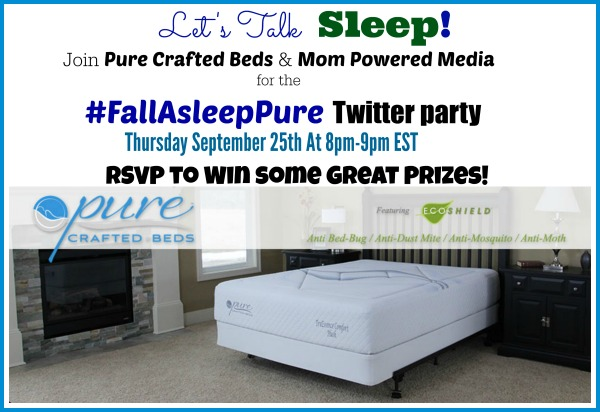 Don't miss the MPM #FallAsleepPure Twitter Party