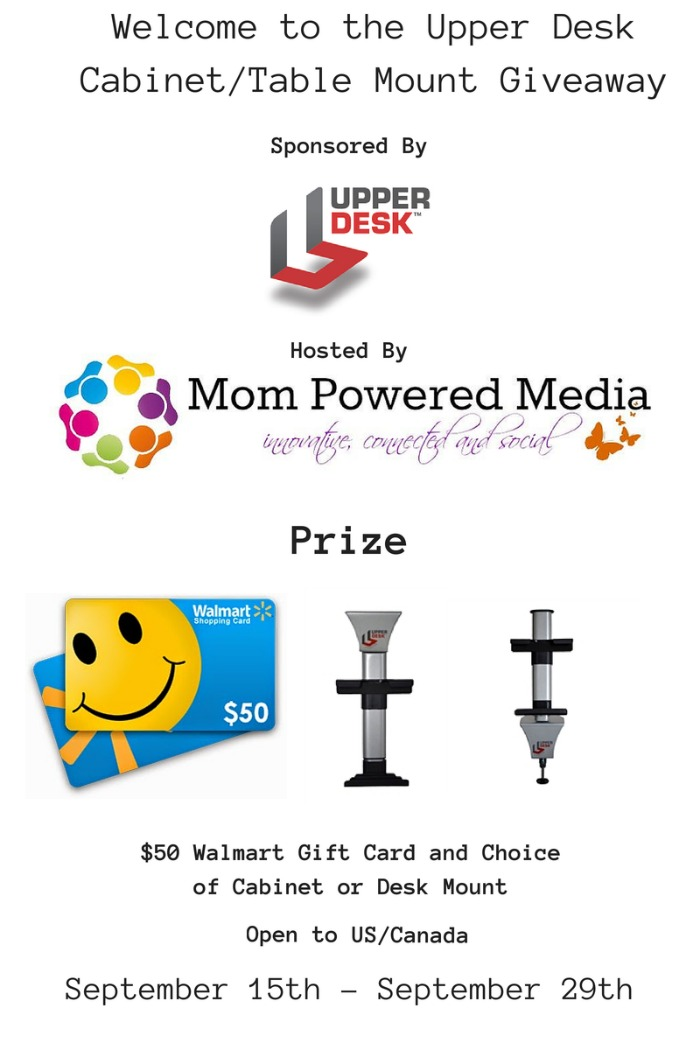Upper Desk Mount & Walmart Gift Card Giveaway