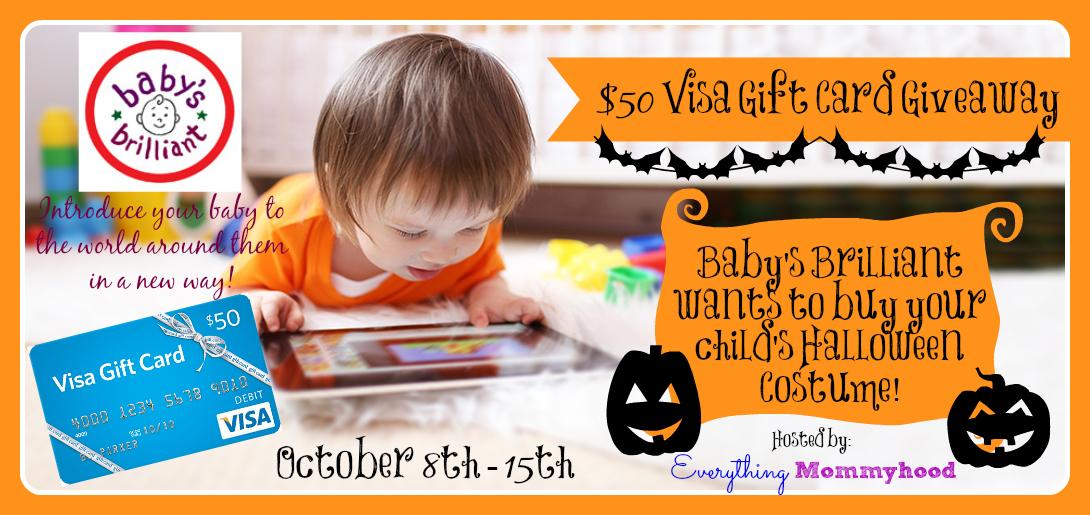 Baby's Brilliant $50 Visa Gift Card Giveaway
