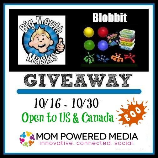 Big Mouth Masks and Blobbits Halloween Giveaway *5 winners*