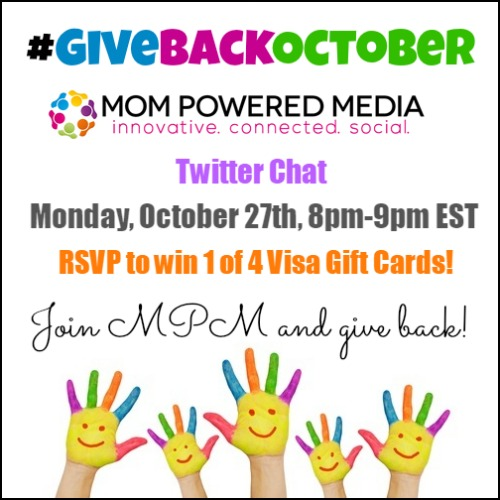 RSVP for the #GiveBackOctober Twitter Party & you could win $250!