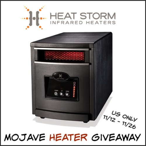 Burr Baby! Heat Storm Mojave Heater Review & Giveaway