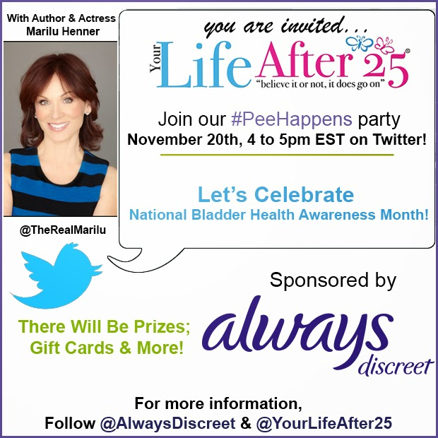 #PeeHappens Twitter Party + $250 Amazon Giveaway