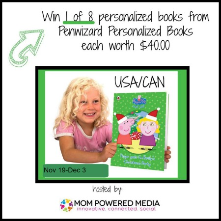 Enter to win one of eight personalized Peppa Pig Book adventures!
