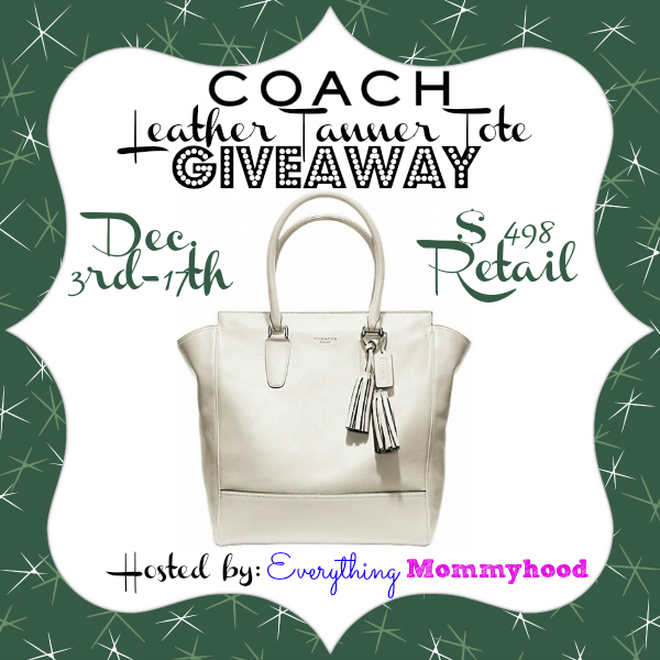 Coach Tanner Leather Handbag Giveaway