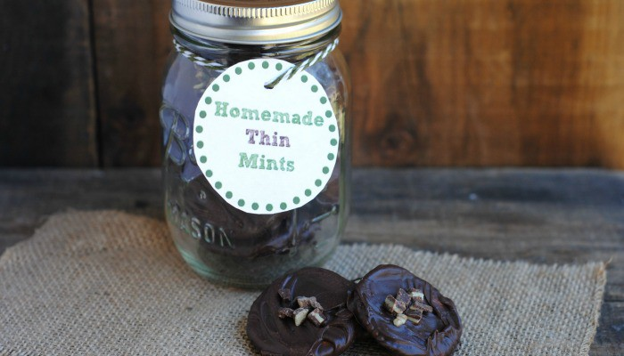 Homemade Thin Mints + Printable Gift Tag