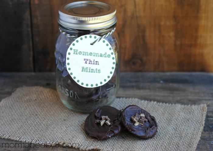 Homemade Thin Mints + Printable Gift Tag