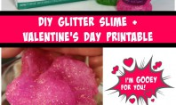 DIY Glitter Slime with Valentine's Day Printable