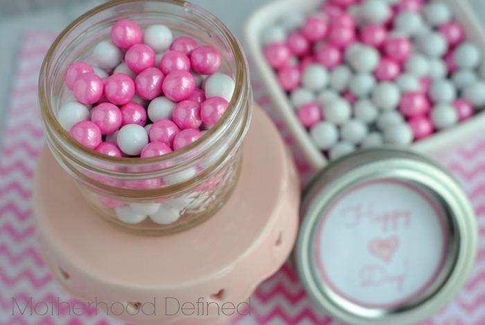 Happy Heart Day Jar