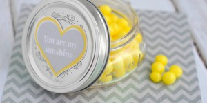 Valentine's Day LemonHead Jar