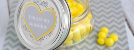 DIY Lemonhead Jar for Valentine's Day