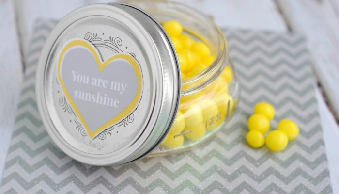 DIY Lemonhead Jar for Valentine's Day