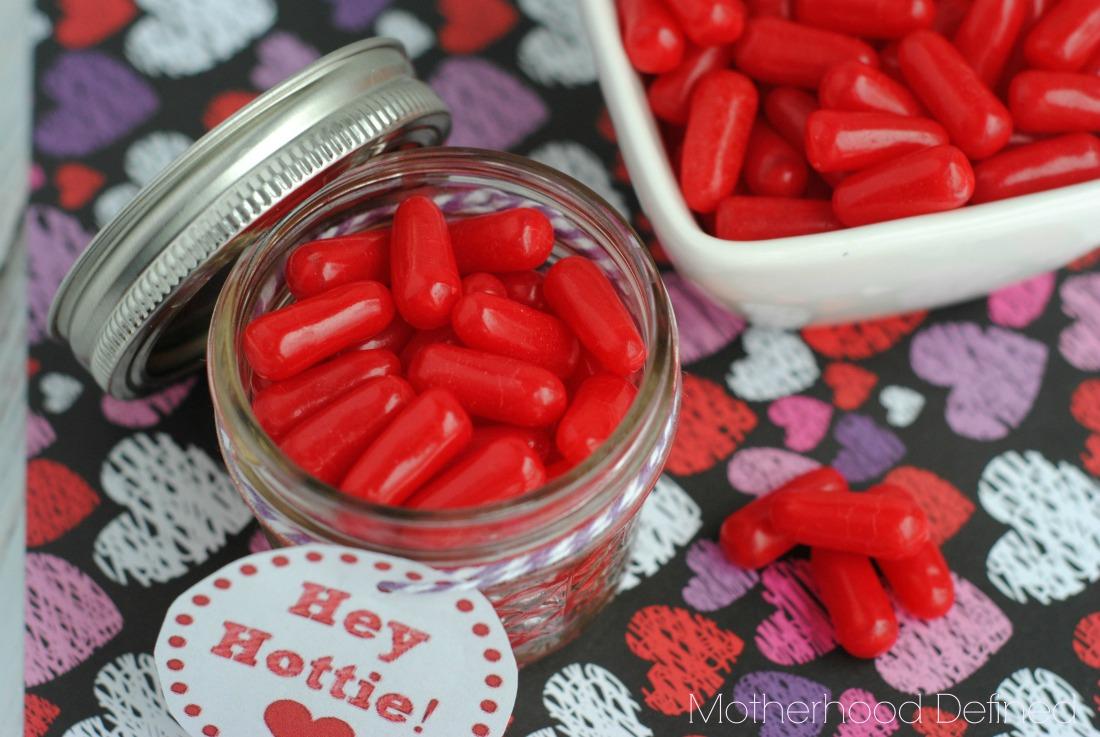 Hey Hottie Valentine Jar