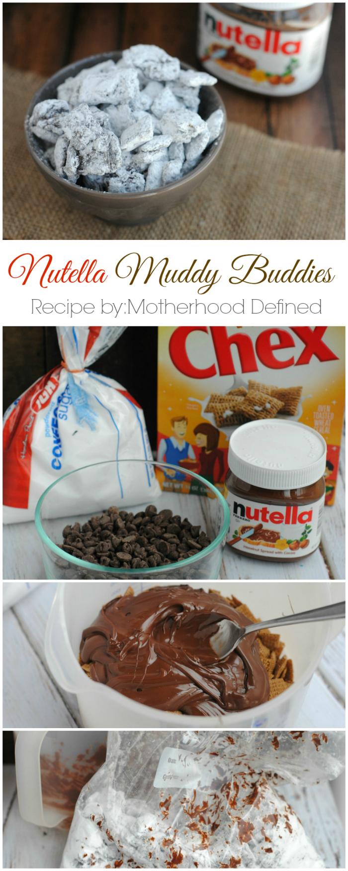 Nutella Muddy Buddies Recipe