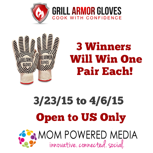Grill Armor Gloves Giveaway *3 winners*