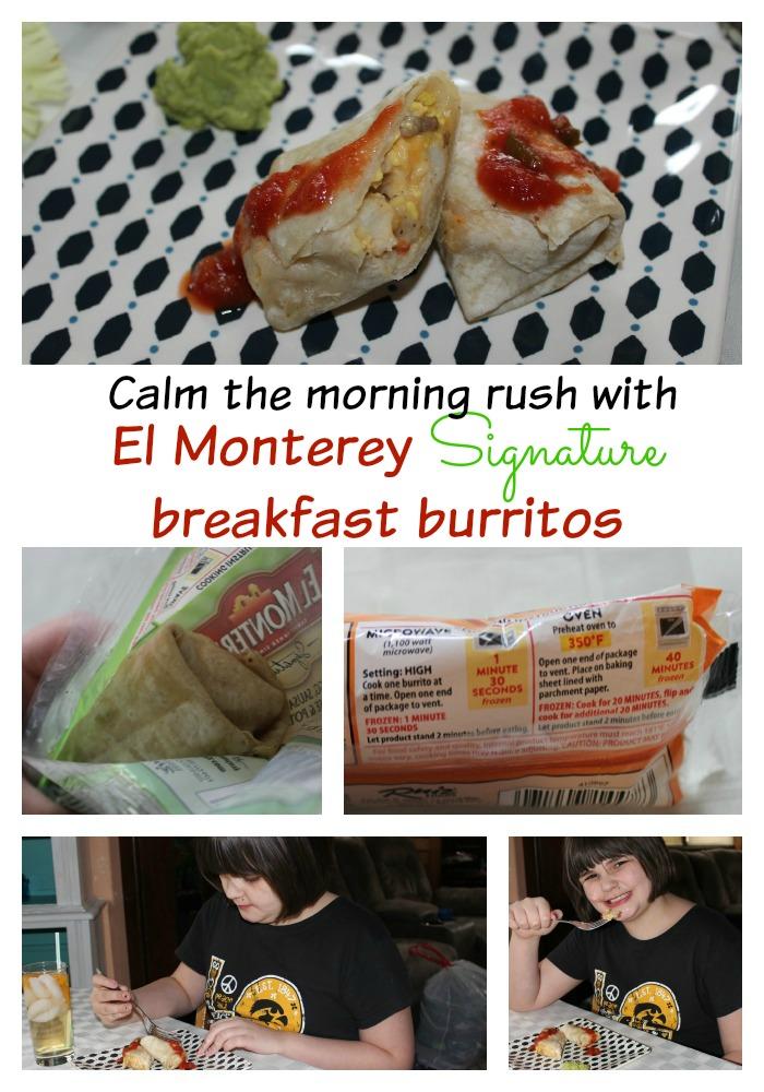 El Monterey Signature breakfast burritos calm the morning rush