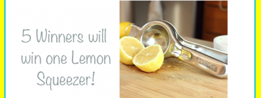Innovee Home Lemon Squeezer Giveaway *5 winners*