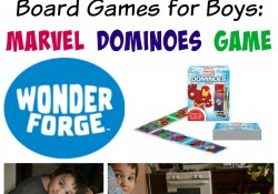 Board Games for Boys Marvel Dominoes Game