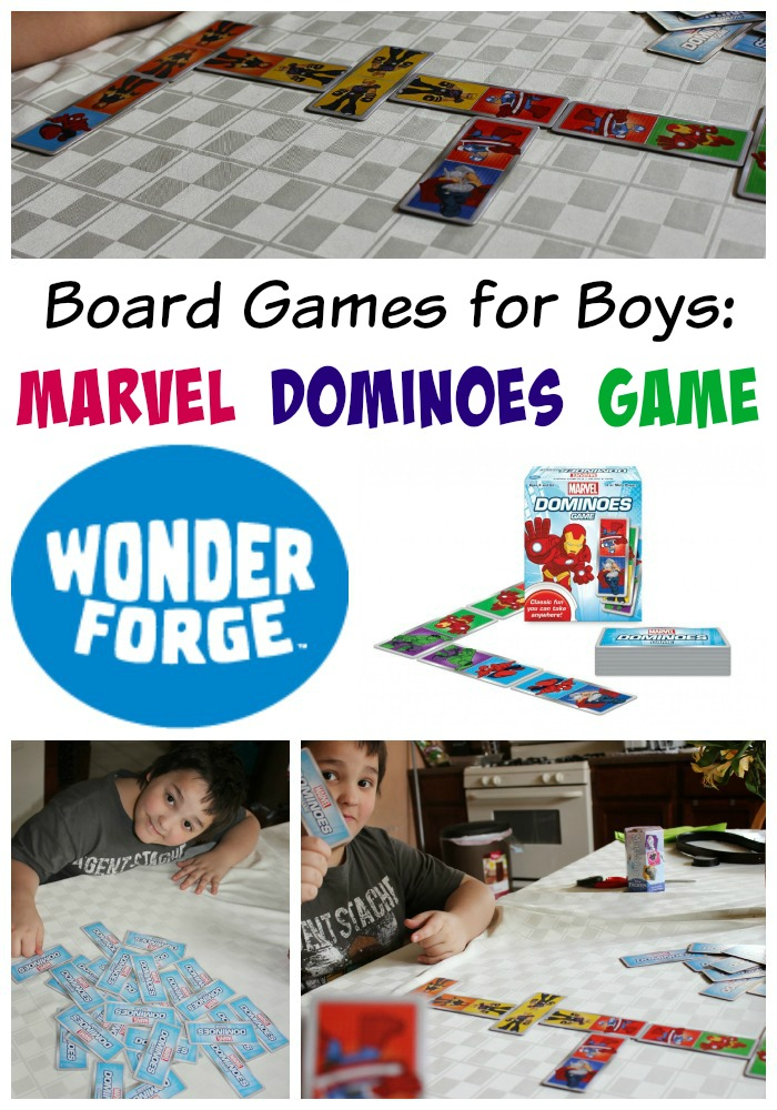 Board Games for Boys: Marvel Dominoes Game