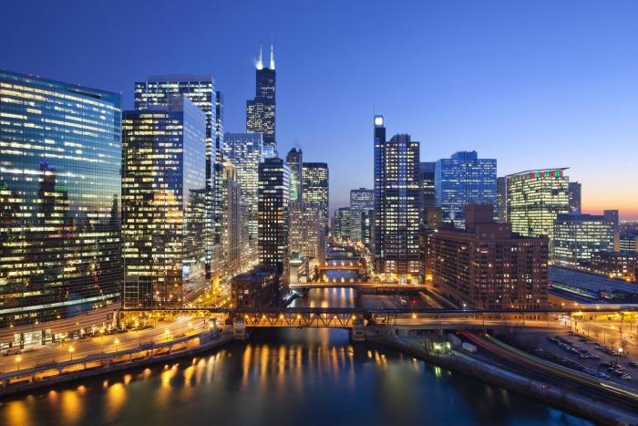 Chicago Night Skiyline