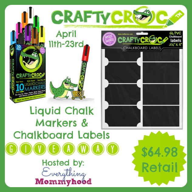CraftyCroc Chalk Markers & Chalk Board Labels Sweepstakes