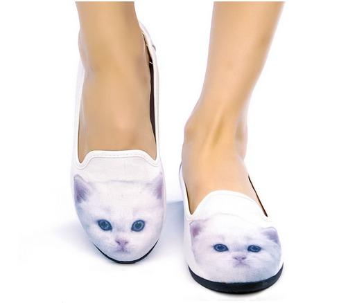 adorable kitten slip-ons